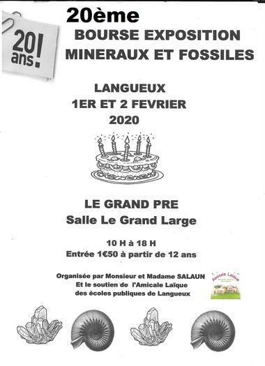 20ème Bourse exposition de minéraux, bijoux et fossiles