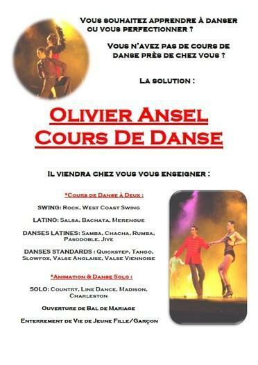 Olivier Ansel Cours De Danse : Chez vous pour vous !