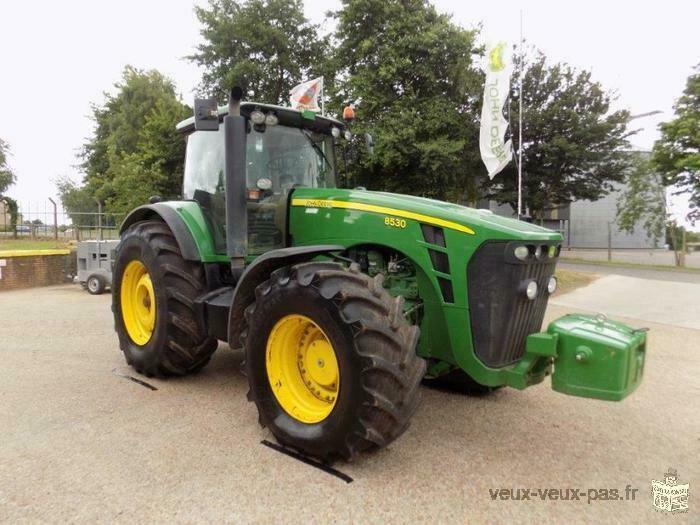 vend tracteur John deere 8530