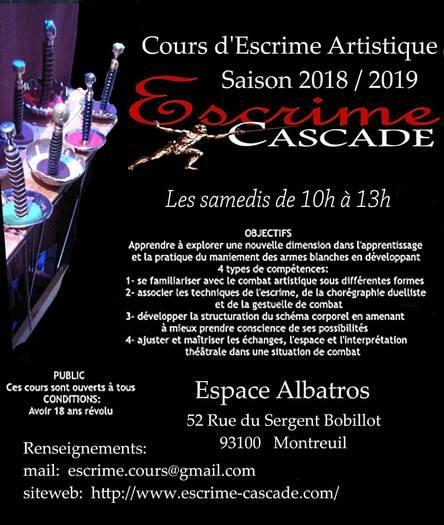 Cours d'Escrime Artistique; Montreuil (93100)