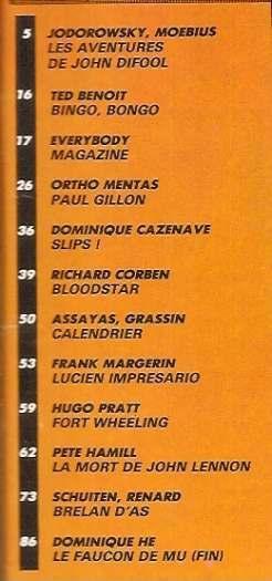 BD METAL HURLANT 1981 N°60 . La mort de LENNON