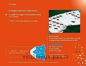 Cours de magie en close-up collectifs ou particulier à réserve rsur Paris Île-de-France chez vous.
