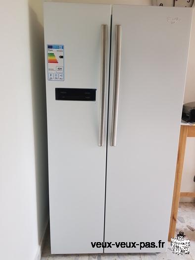 Grand frigo Américain WHIRLPOOL A+