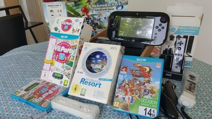 vends console WII U (mariokart premium pack) + jeux + accessoires quasi neuf